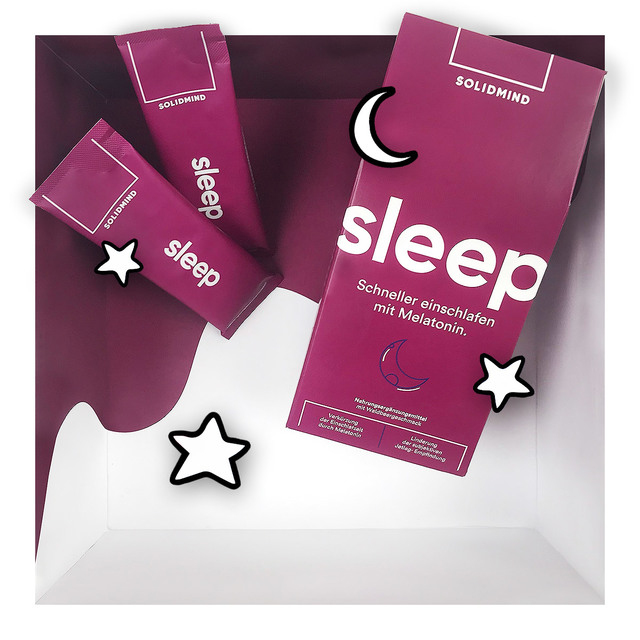 Solidmind Sleep – Hocheffektive Einschlafformel mit Melatonin & mehr