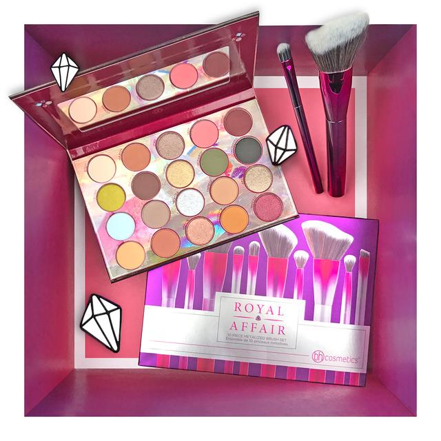 bh cosmetics Royal Affair 20 Farben Shadow Palette + Royal Affair 10-teiliges Pinselset