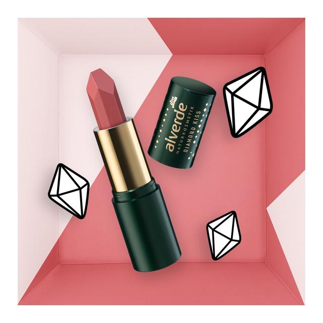 alverde Naturkosmetik Lippenstift Diamond Kiss Farbe 20 Turmalin