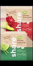 festes Shampoo Granatapfel & Avocado und feste Dusche Limette & Zitronengras