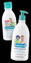 Ultra Sensitive Pflege- und Massageöl 250 ml & Ultra Sensitive Kopf bis Fuß Waschbalsam 500 ml